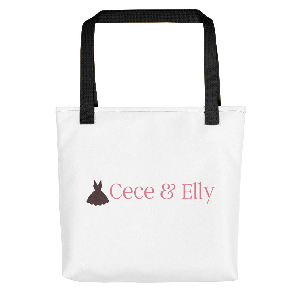 Cece & Elly Tote Bag- with pink logo