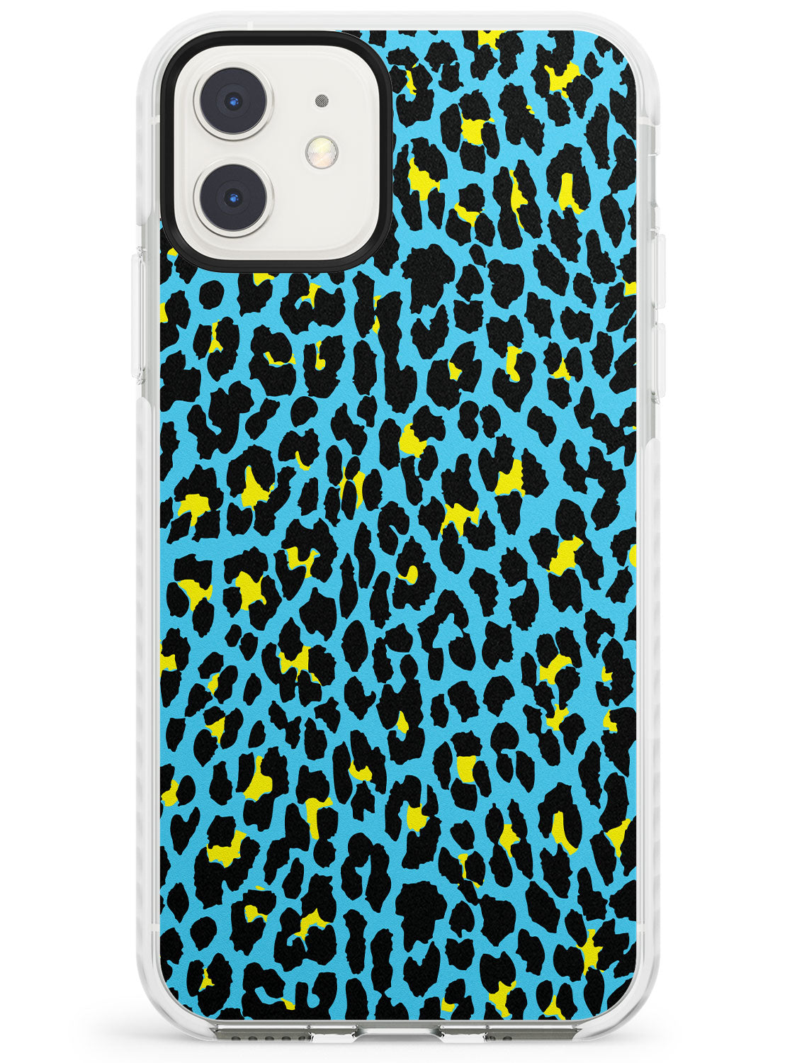Yellow on Blue Leopard iPhone Case by Case Warehouse ®