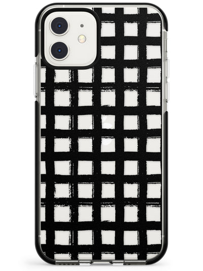 Messy Black Grid - Clear Pink Fade Impact Phone Case for iPhone 11 Pro Max