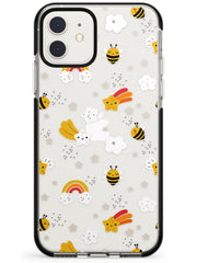 Busy Bee Black Impact Phone Case for iPhone 11