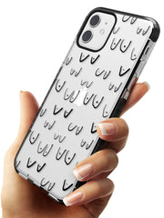 Boob Pattern (Black) Black Impact Phone Case for iPhone 11