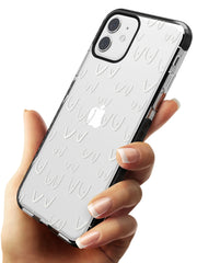 Boob Pattern (White) Black Impact Phone Case for iPhone 11