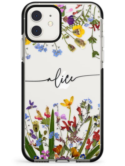 Custom Wildflower Menagerie Pink Fade Impact Phone Case for iPhone 11 Pro Max