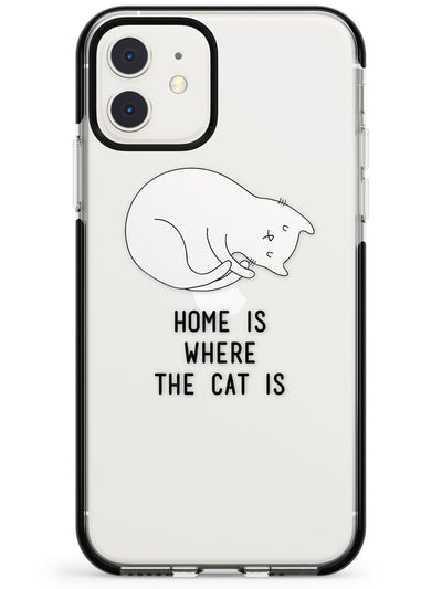 Home Is Where the Cat is Pink Fade Impact Phone Case for iPhone 11 Pro Max