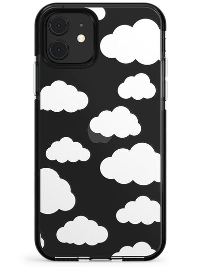 Transparent Cloud Pattern Pink Fade Impact Phone Case for iPhone 11 Pro Max