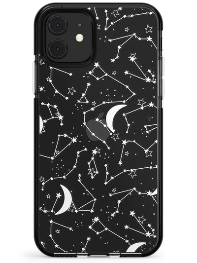 White Constellations on Clear Pink Fade Impact Phone Case for iPhone 11 Pro Max