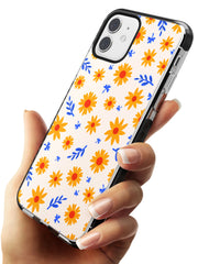 Cute Daisy Pattern - Solid iPhone Case Black Impact Phone Case Warehouse 11