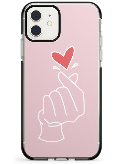 Finger Heart in Pink Pink Fade Impact Phone Case for iPhone 11 Pro Max