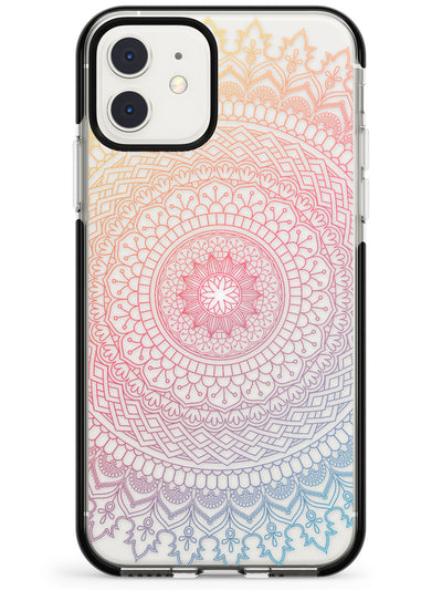 Large Rainbow Mandala Transparent Design Pink Fade Impact Phone Case for iPhone 11 Pro Max