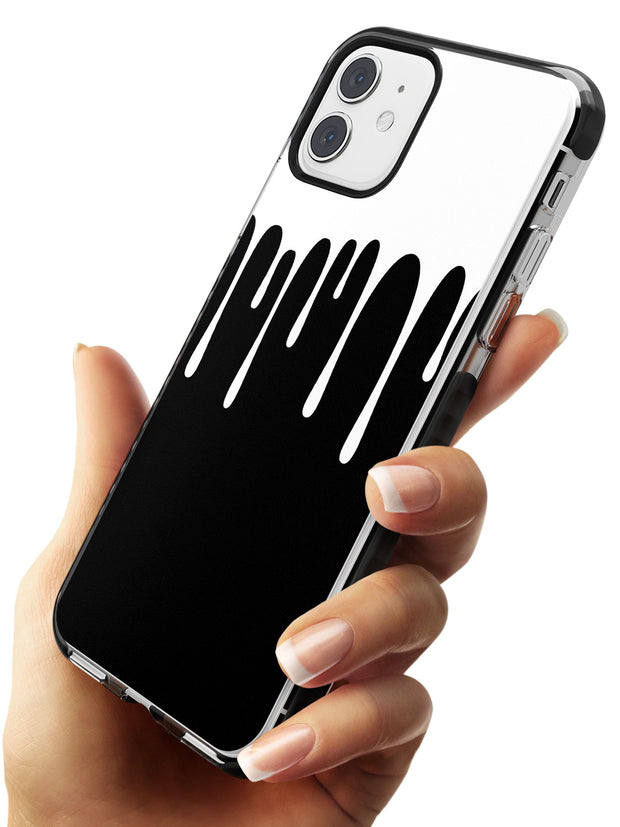 Melted Effect: White & Black iPhone Case Black Impact Phone Case Warehouse 11