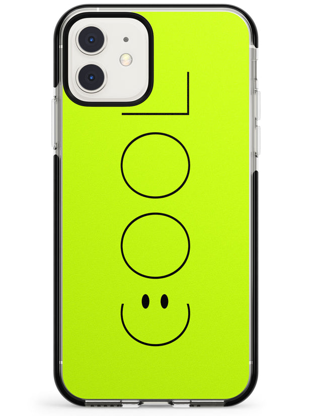 COOL Smiley Face Black Impact Phone Case for iPhone 11