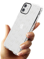 Boob Pattern (White) Impact Phone Case for iPhone 11