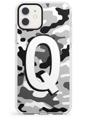 Greyscale Camo Solid Monogram iPhone Case by Case Warehouse ®