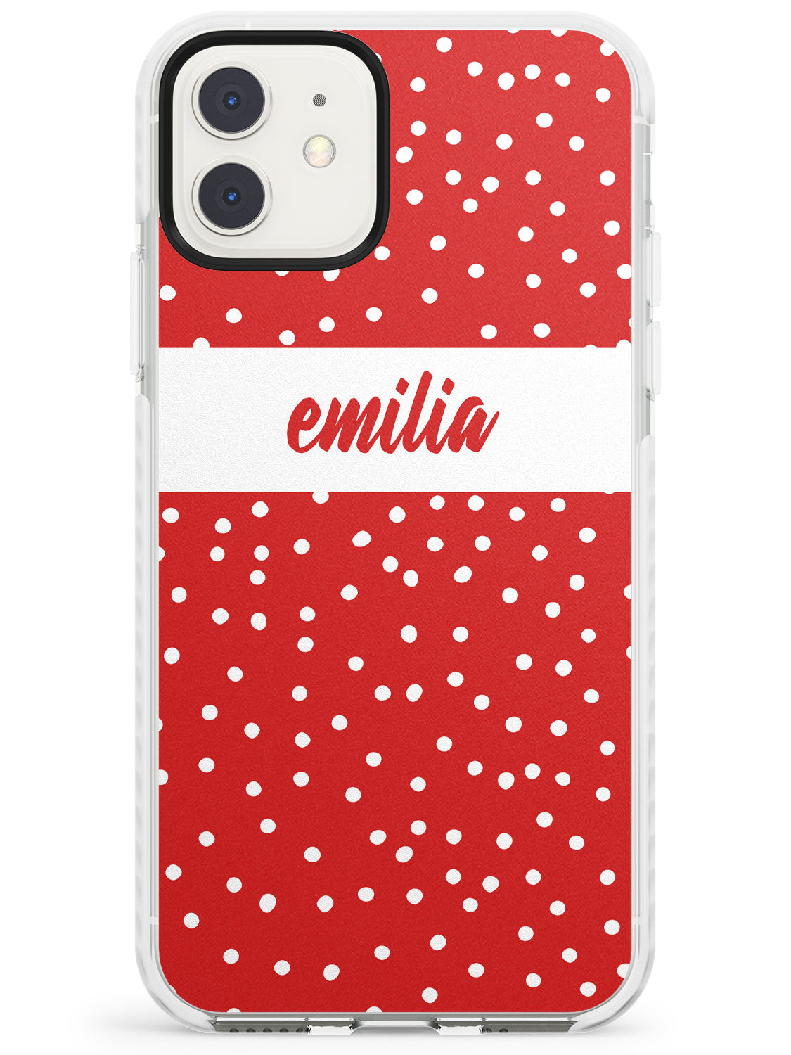 Framed Cursive & Dots iPhone Case by Case Warehouse ®