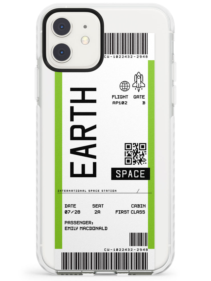 Earth Custom Space Travel Ticket