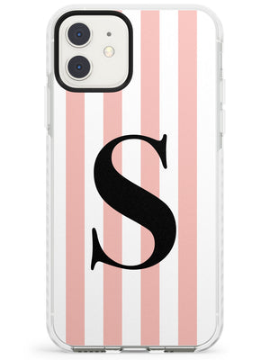 Pink Stripe Mono iPhone Case by Case Warehouse ®