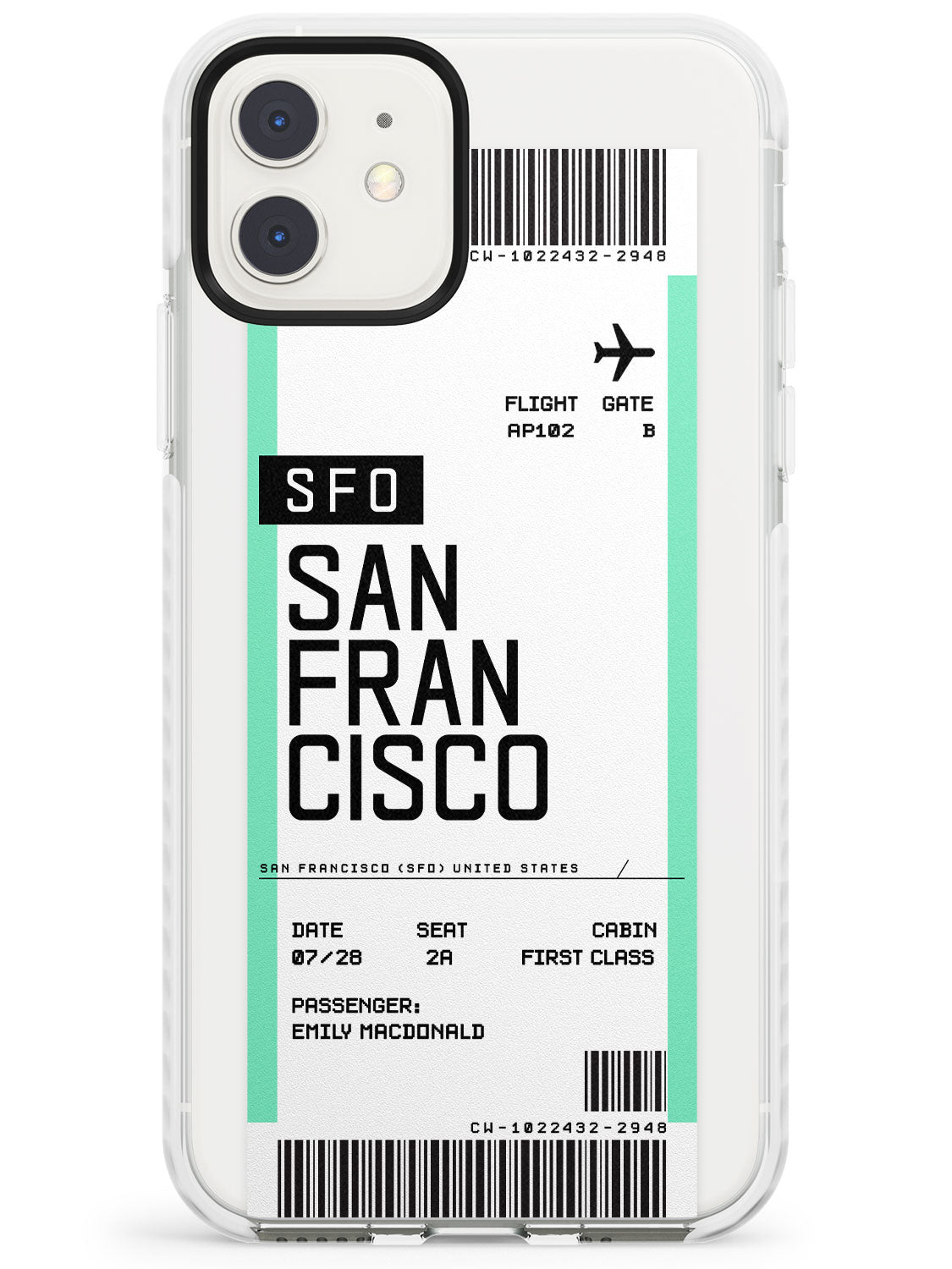 San Francisco Boarding Pass iPhone Case by Case Warehouse ®