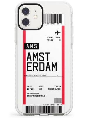 Amsterdam Boarding Pass iPhone Case by Case Warehouse ®