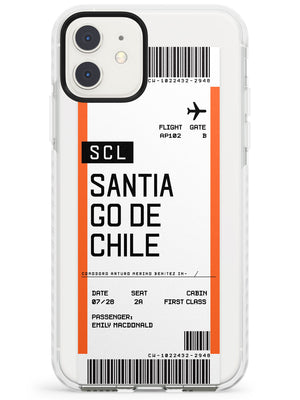 Santiago De Chile Boarding Pass iPhone Case by Case Warehouse ®