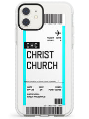 Christchurch Boarding Pass iPhone Case  Impact Case Custom Phone Case - Case Warehouse