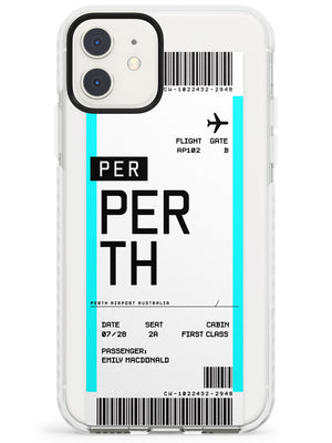Perth Boarding Pass iPhone Case by Case Warehouse ®