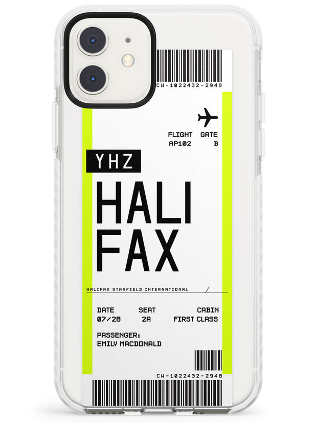 Halifax Boarding Pass iPhone Case  Impact Case Custom Phone Case - Case Warehouse
