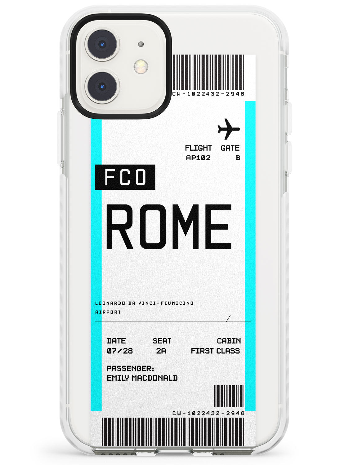 Rome Boarding Pass iPhone Case by Case Warehouse ®