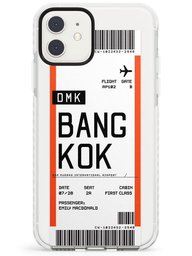 Bangkok Boarding Pass iPhone Case  Impact Case Custom Phone Case - Case Warehouse