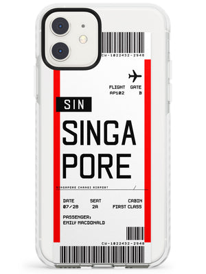 Singapore Boarding Pass iPhone Case by Case Warehouse ®