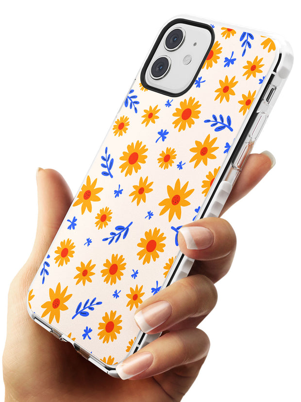 Cute Daisy Pattern - Solid iPhone Case Impact Phone Case Warehouse 11
