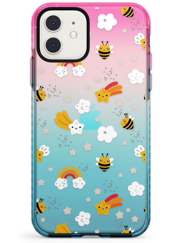 Busy Bee Pink Fade Impact Phone Case for iPhone 11
