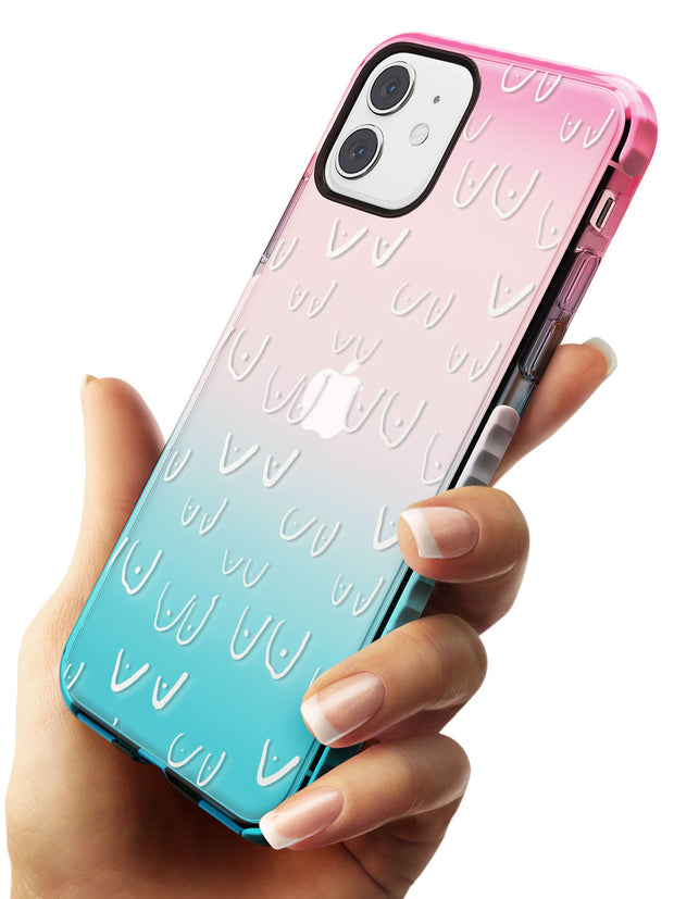 Boob Pattern (White) Pink Fade Impact Phone Case for iPhone 11
