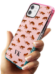 Safari Tiger Pattern on Pink iPhone Case   Custom Phone Case - Case Warehouse