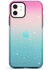 Celestial Starry Sky White Pink Fade Impact Phone Case for iPhone 11