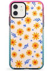 Cute Daisy Pattern - Solid iPhone Case Pink Fade Impact Phone Case Warehouse 11