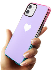 Single Heart White & Pale Purple Pink Fade Impact Phone Case for iPhone 11