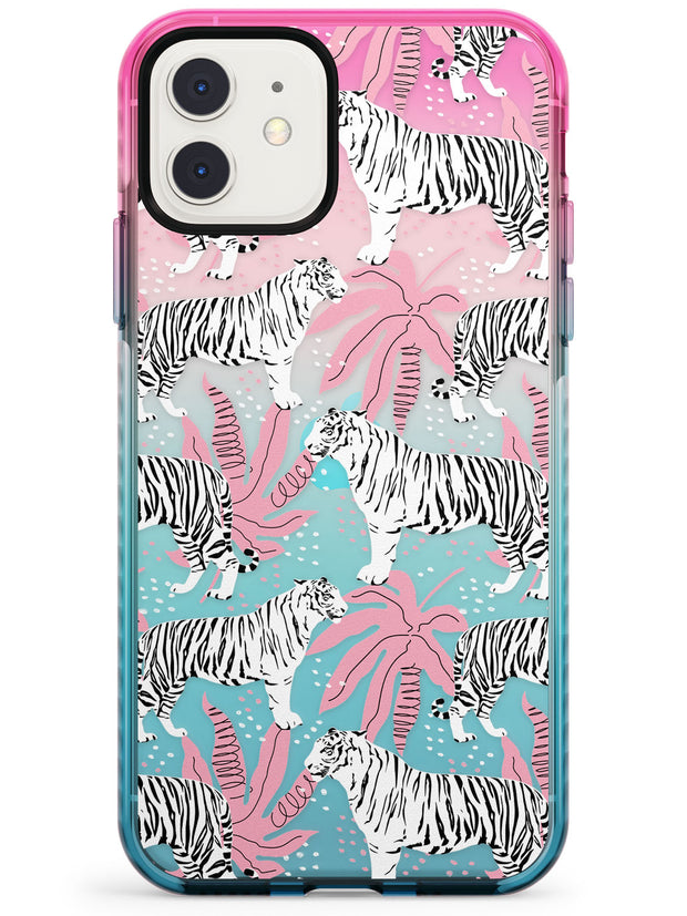 Tigers Within Pink Fade Impact Phone Case for iPhone 11