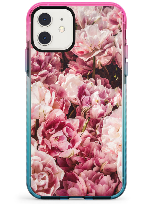 Pink Peonies iPhone Case  Pink Fade Impact Phone Case - Case Warehouse