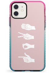 LOVE Sing Language Pink Fade Impact Phone Case for iPhone 11