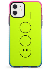 COOL Smiley Face Pink Fade Impact Phone Case for iPhone 11