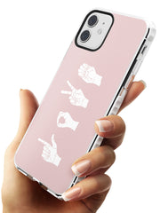 LOVE Sing Language Impact Phone Case for iPhone 11