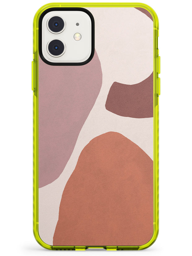 Lush Abstract Watercolour: Design #4 Neon Yellow Impact Phone Case for iPhone 11