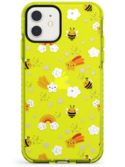 Busy Bee Neon Yellow Impact Phone Case for iPhone 11