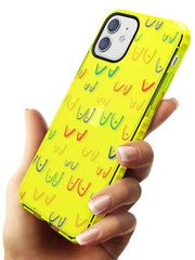 Boob Pattern (Mixed Colours) Neon Yellow Impact Phone Case for iPhone 11