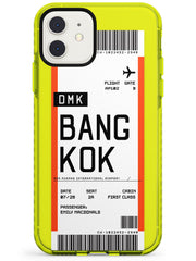 Bangkok Boarding Pass iPhone Case  Neon Impact Custom Phone Case - Case Warehouse