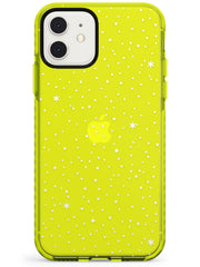 Celestial Starry Sky White Neon Yellow Impact Phone Case for iPhone 11