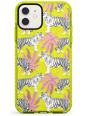 Tigers Within Neon Yellow Impact Phone Case for iPhone 11