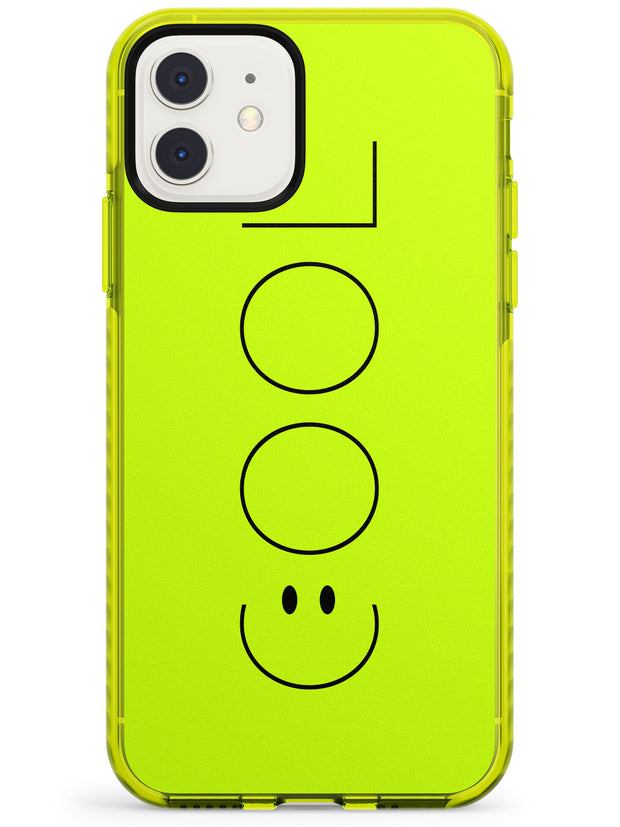 COOL Smiley Face Neon Yellow Impact Phone Case for iPhone 11
