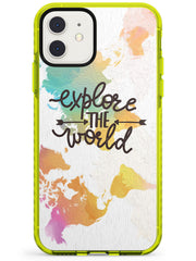 'Explore the World' iPhone Case  Neon Impact Phone Case - Case Warehouse