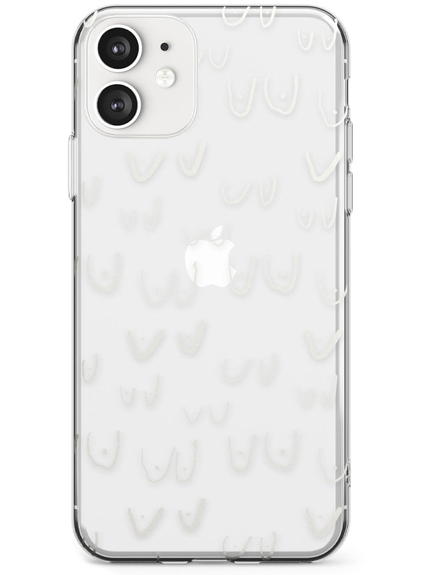 Boob Pattern (White) Slim TPU Phone Case for iPhone 11